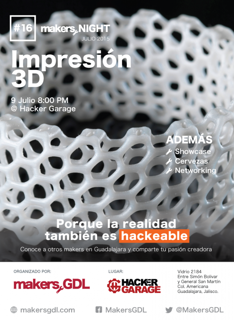 MakersNight16-Cartel-Impresion3D
